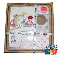 Набор  для новорожденных LeyLek от 0-4 мес, состоит из 7 предметов, подарочная коробка.  1 шт. в упаковке.
