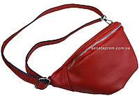 Женская сумка бананка на пояс натуральная кожа