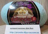 Полушерстяная пряжа(51%-шерсть, 11%-кролик, 38%-акрил, 100г/460 м) Valencia Velloso F730