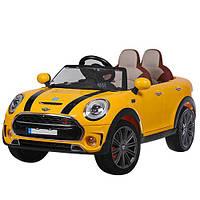 Детский электромобиль M 3595 EBLR-6 Mini Cooper, кожаное сиденье, желтый