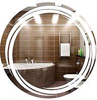 Зеркало с LED подсветкой круглое в раме (d700)