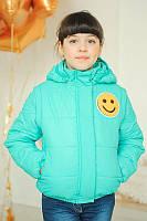 Детская демисезонная куртка-жилетка «Стефани» для девочек 7-8,10 лет (р. 32-34,38 / 122-128,140 см) ТМ MANIFIK Бирюза