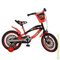 Велосипед PROFI ORIGINAL детский 16д. красно-черный,прист.колеса,в кор-ке
