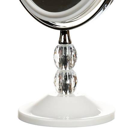 Зеркало настольное двухстороннее с увеличением 28 см 042Z, фото 2