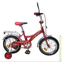 """Велосипед PROFI детский 16"""" красный, звонок, зеркало, приставные колеса"""