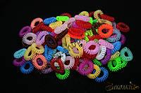 Резинка силиконовая червяк (телефонная трубка) invisibobble, диаметр: 3,5 см, 100 штук в упаковке