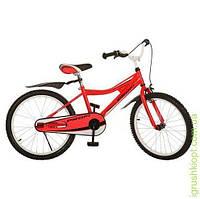 Велосипед PROFI детский 20д. красн, каретка америк, полная защита цепи, пласт