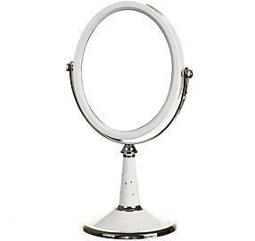 Зеркало косметическое настольное двухстороннее с увеличением 15*2*33см (0500-001)
