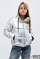 Куртка серебряная GRAND TREND LS-8775-20