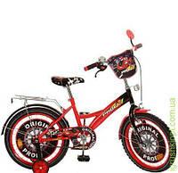 Велосипед детский PROF1 мульт 18д. Original,крас-черн,зеркало,звонок
