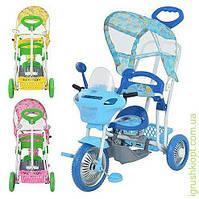 Велосипед три колеса качалка крыша ручка