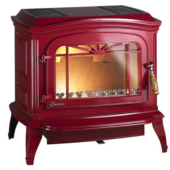 Чугунная печь Invicta Bradford красная 12 кВт