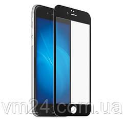 Защитное стекло для Apple iPhone 6\6S белое .черное  на весь экран черное