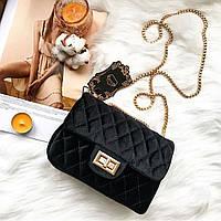 Женская сумочка Chaneel  мини Chaneel сумка Супер стильная Бархатная сумочка