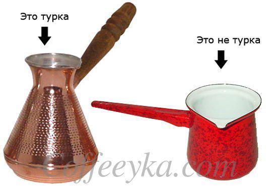 Правильная форма турки
