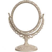 Зеркало косметическое настольное ажурное двухстороннее с увеличением 26 см 038Z