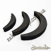 Накладки для увеличения объема волос Bumpits бампитс, цвет: черный, длина меньшей 9 см, средней: 11.5 см, боль