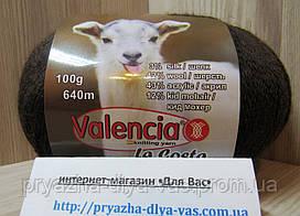 Полушерстяная пряжа (12%-кид мохер, 3%- шёлк, 42%- шерсть, 43%- акрил, 100г/ 640м) Valencia La Costa F533