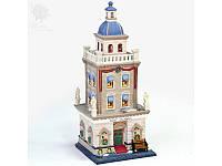 Новогодний декор домик «Отель», фарфор, с диодной подсветкой, h-35,5x14x14 см (350-3051)