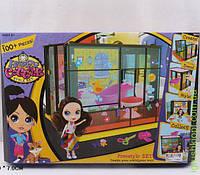 """Домик """"Littlest Pet Shop"""" сборный, с куклой, мебелью для ванной, в кор."""