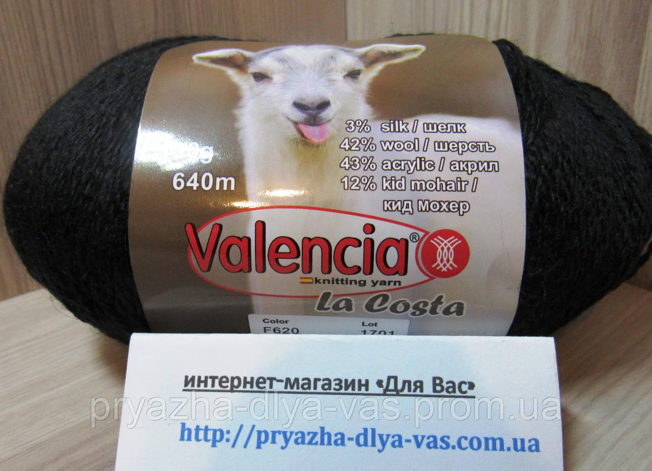 Полушерстяная пряжа (12%-кид мохер, 3%- шёлк, 42%- шерсть, 43%- акрил, 100г/ 640м) Valencia La Costa F620