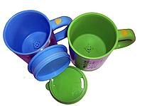 Кружка мешалка с крышкой Self stirring mug