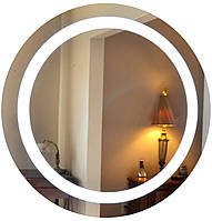 Зеркало круглое с LED подсветкой в раме (d700)