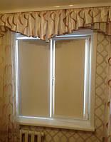Рулонные шторы ткань блэкаут Umbra vanilla ванильный цвет