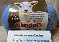 Полушерстяная пряжа (12%-кид мохер, 3%- шёлк, 42%- шерсть, 43%- акрил, 100г/ 640м) Valencia La Costa F317