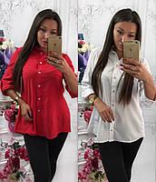Женская рубашка-блузка с разрезом на спине