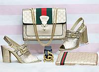 Набор GUCCI:сумочка,обувь,кошелек, ремень