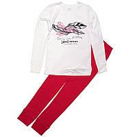 Пижама для девочки «Перо» с длинным рукавом