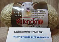 Полушерстяная пряжа (12%-кид мохер, 3%- шёлк, 42%- шерсть, 43%- акрил, 100г/ 640м) Valencia La Costa F546