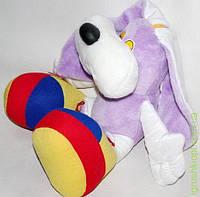 """Игрушка мягкая """"Заяц в башмаках фиолетовый"""" тм Золушка"""