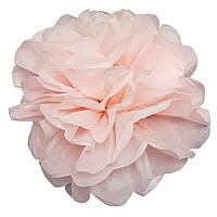 Помпон бледно-розовый 35 см