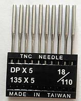 """Иглы для промышленных швейных машин """"Триумф""""DPх5 №110/18 (уп.10шт)"""