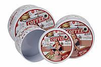 Жестяные коробки для хранения сыпучих продуктов, Ретро Coffee, 3 шт