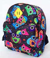 Рюкзак детский для девочки Совушки чёрный, фото 1
