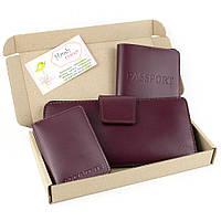 Подарочный набор №12 (6 цветов): обложка на паспорт + обложка на документы + кошелек