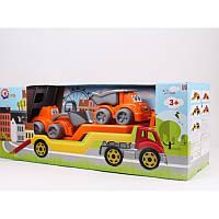 "Іграшка ""Автовоз з Будмайданчиком ТехноК"", арт.3930 65 х 24 х 21 см, детская машинка"