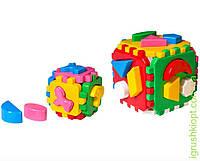 "Іграшка куб ""Розумний малюк 1+1"" ТехноК"", 36 элементов."