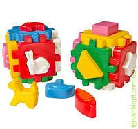 """Іграшка куб """"Розумний малюк Весела компанія ТехноК""""1+1, 24 элемента"""
