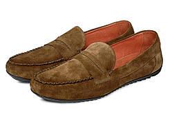 Мокасины мужские кожаные Аnton Kuzmin ML Ice Coffee коричневые