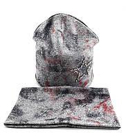 Трикотажная шапка Двойная с хомутом 52-55р