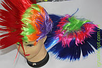 Карнавальный цветной парик, ирокез