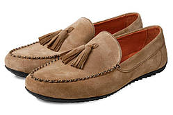 Мокасины мужские кожаные Аnton Kuzmin ML Sand бежевые