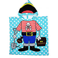 Детское полотенце, пончо. Пират.