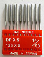 """Иглы для промышленных швейных машин """"Триумф""""DPх5 №90/14 (уп.10шт)"""