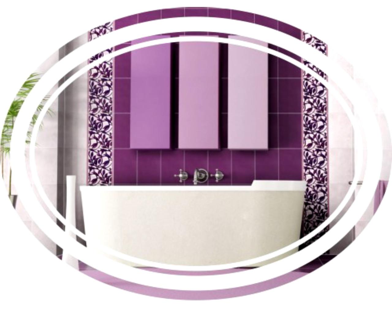 79e5f7978e00 Зеркало овальное с LED подсветкой в раме (600х800) - Интернет-магазин