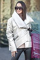 Куртка из ЭКО-кожи металлический перламутр цвет белый, фото 1